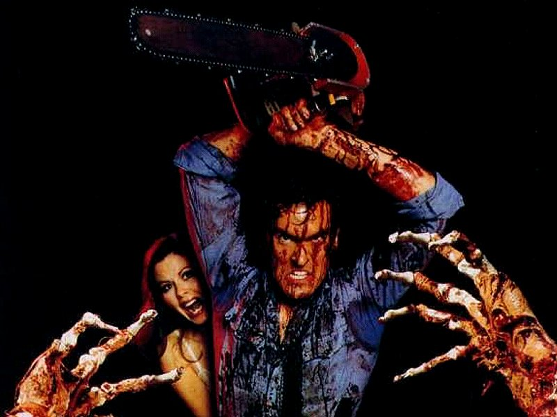The Evil Dead 1981 promotional artwork Top Ten 80s Horror Movies
