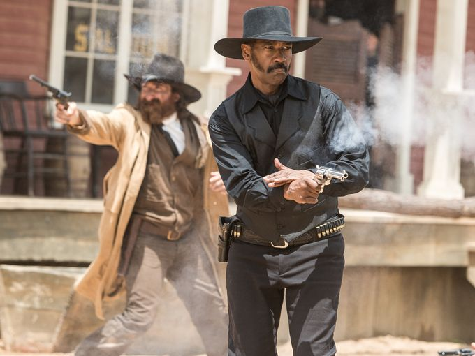 Chris Pratt And Denzel Washington Form Part Of The Magnificent Seven In First Images