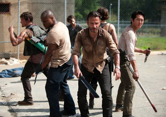 Norman Reedus, IronE Singleton, Andrew Lincoln, Lauren Cohan and Stephen Yeun in The Walking Dead