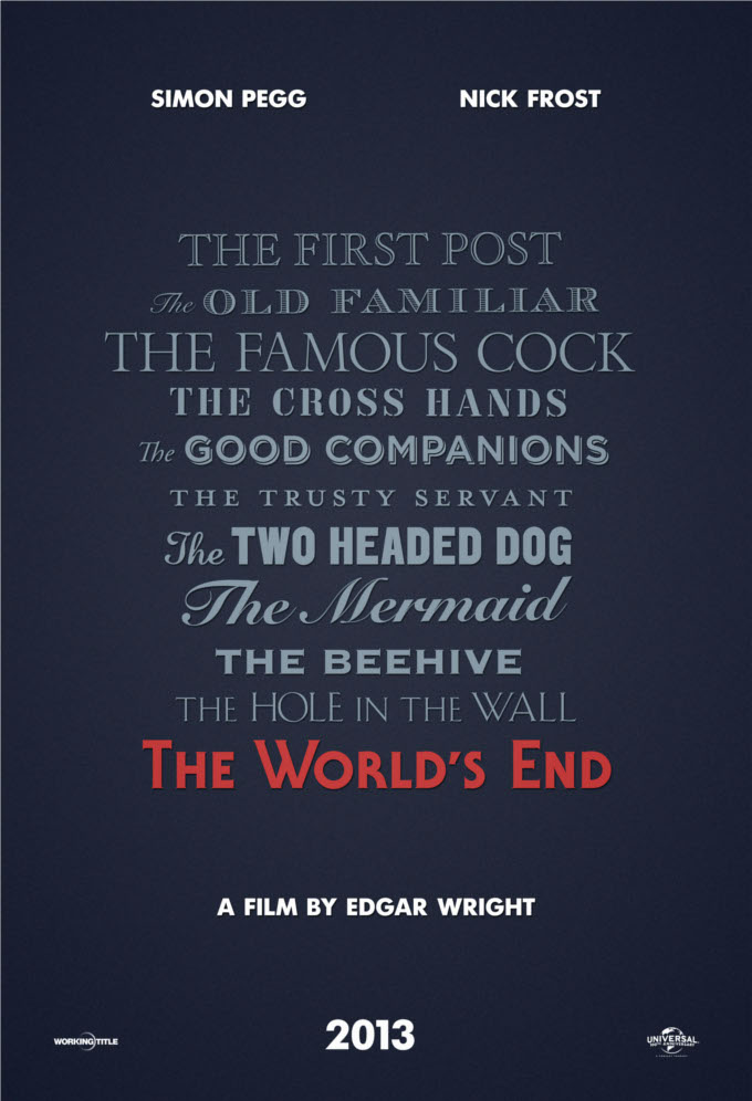 Edgar Wright's The World's End Gets Green Light And A Teaser Poster