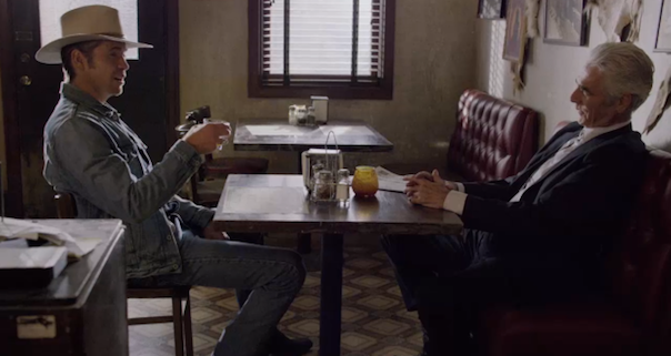 Timothy Olyphant and Sam Elliot in Justified