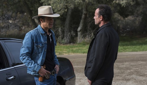 Timothy Olyphant and Walton Goggins in Justified