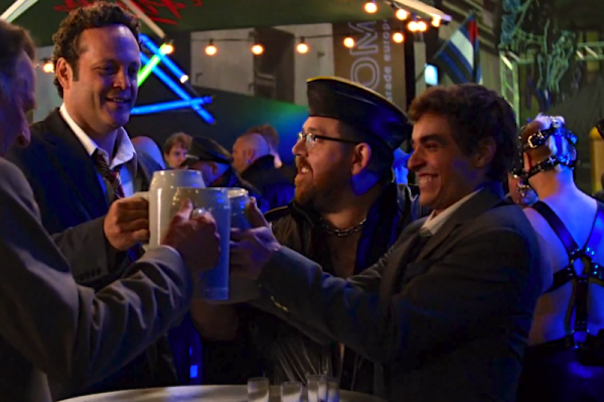 Tom Wilkinson, Vince Vaughn, Nick Frost and Dave Franco in Unfinished Business