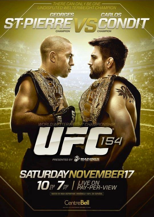 New UFC 154 Poster Revealed For St-Pierre Vs Condit
