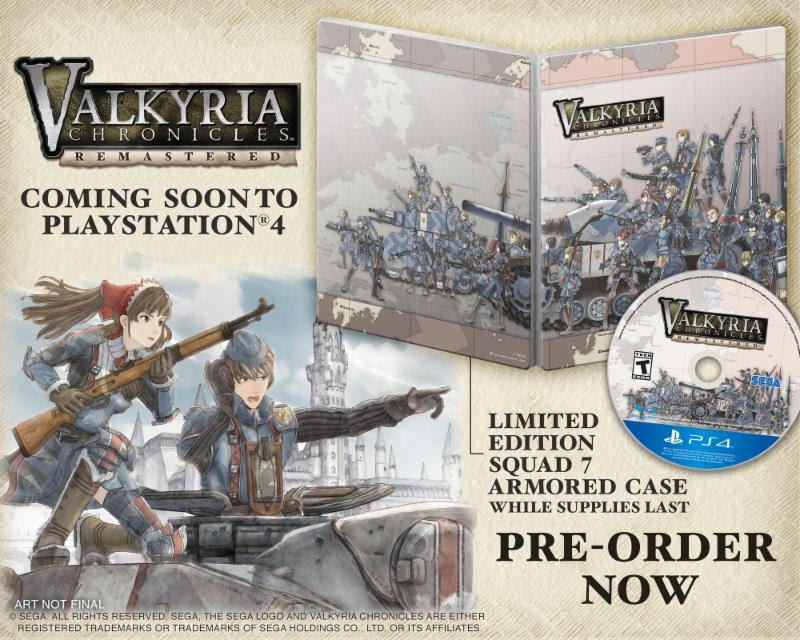 Squad 7 Marches Into Battle In Valkyria Chronicles Remastered Trailer; Western Release Confirmed