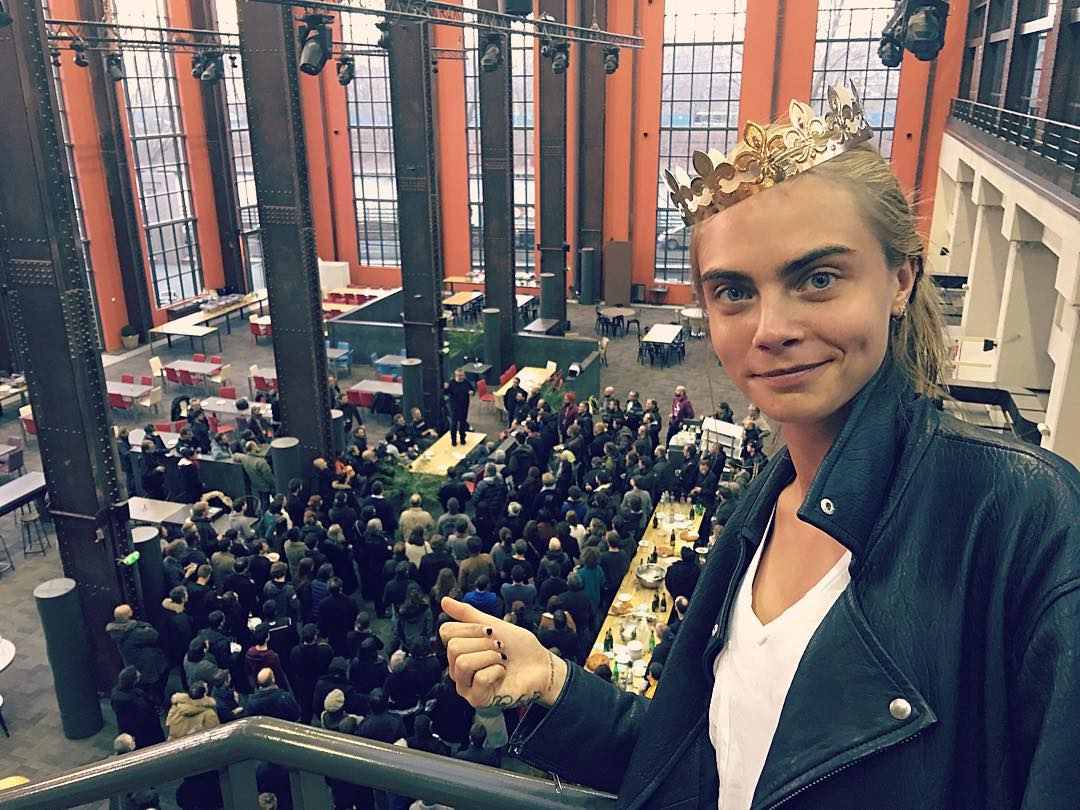 Cara Delevingne Shares First Set Photo From Luc Besson's Valerian