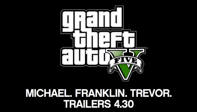 New Grand Theft Auto V Trailers Will Debut April 30th