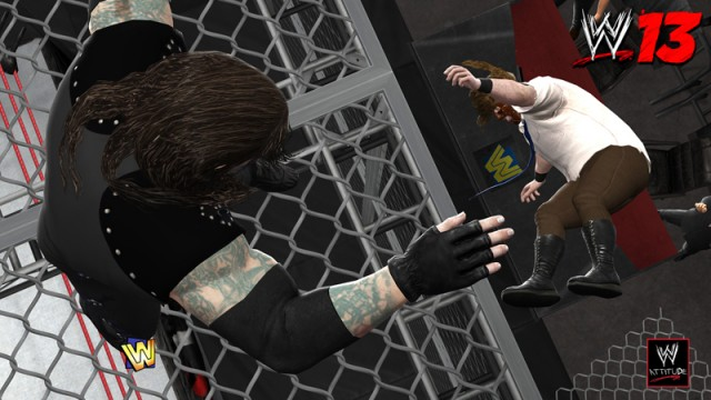 WWE 13 Undertaker Mankind Cell 640x360 WWE 13 Attitude Era Mode Revealed In Detailed Video
