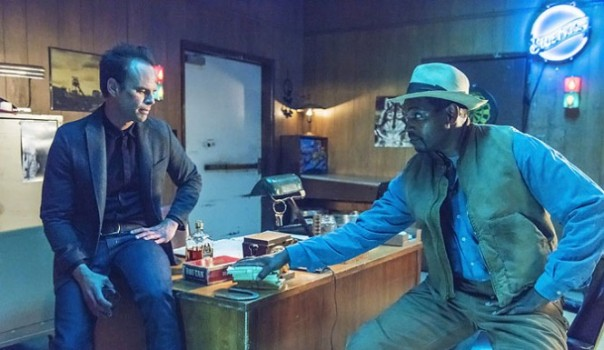 Walton Goggins and Mykelti Williams in Justified