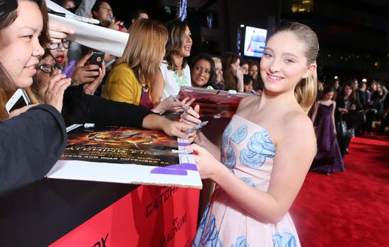 Willow Shields at the LA Catching Fire Premiere