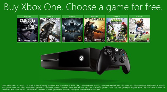 Buy An Xbox One This Weekend And Pick Up Any Retail Game Free Of Charge