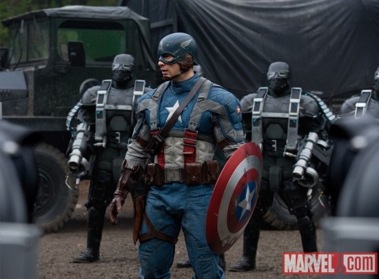 Brand New Photo Of Chris Evans As Captain America
