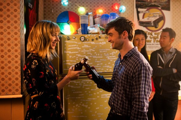 Zoe Kazan and Daniel Radcliffe in The F Word
