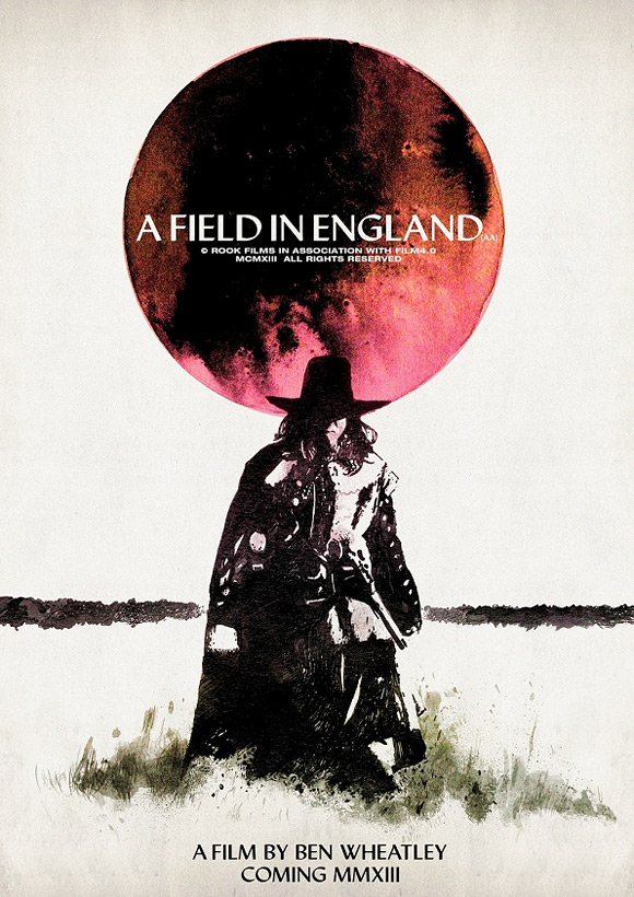 Poster For Ben Wheatley's A Field In England Features A Moon Mushroom
