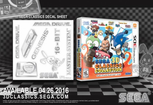 SEGA 3D Classics Collection Will Come With Retro Decals