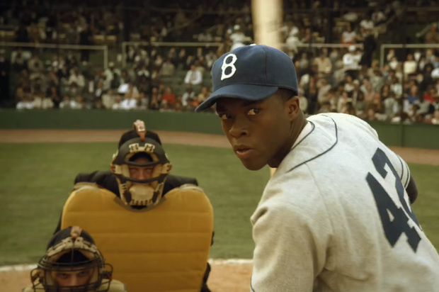 a996f  the story of jackie robinson told through 42 0 620x4121 The Top 10 Baseball Movies Of All Time