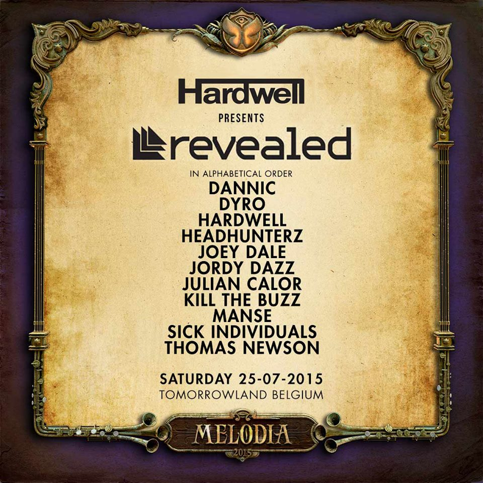 Hardwell Shows Off Revealed Stage Lineup For Tomorrowland 2015