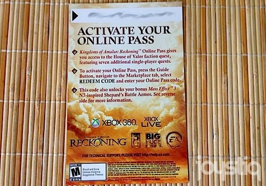 Kingdoms Of Amalur: Reckoning Includes An Online Pass Code
