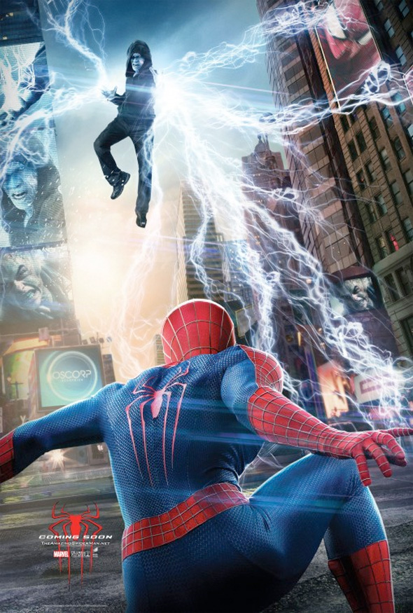 Spider-Man Has His Eye On Electro In New The Amazing Spider-Man 2 Posters