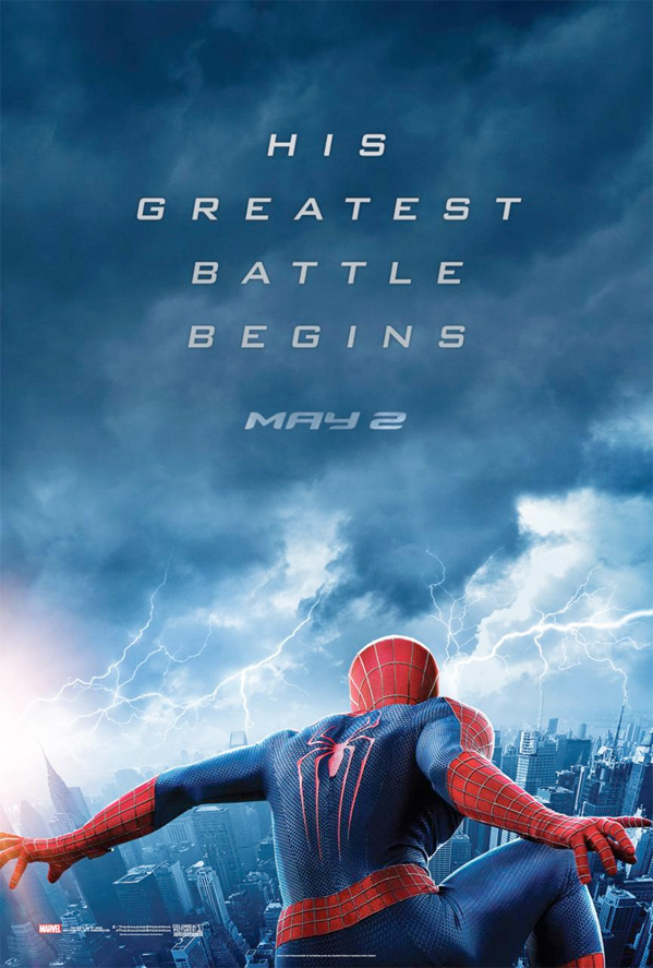 Lightning Strikes In The Amazing Spider-Man 2 Poster