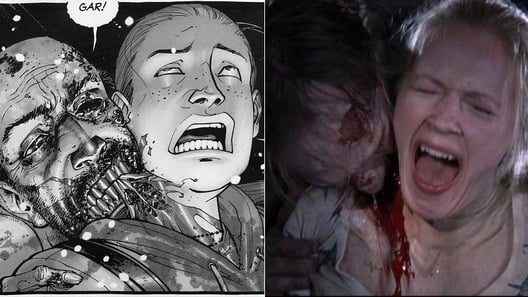 amy death complete 528x297 10 Reasons Why The Walking Dead Comic Is Better Than The TV Show