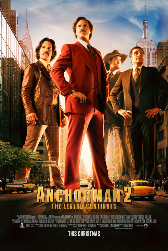 Channel 4 News Team Takes Manhattan In New Anchorman 2: The Legend Continues Poster