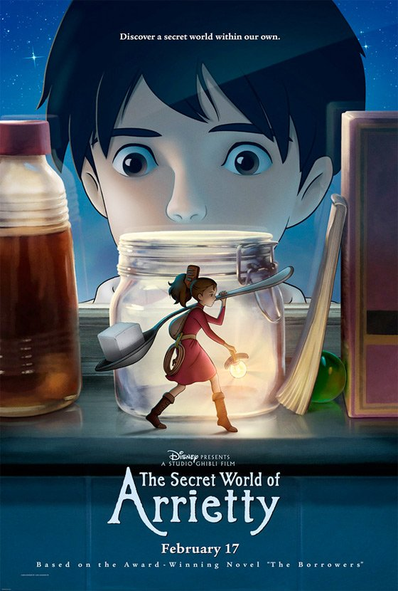 First Poster For Studio Ghibli's The Secret World of Arriety