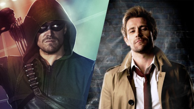 Arrow's Stephen Amell And Marc Guggenheim Talk Potential Constantine Crossover