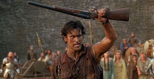 Bruce Campbell Fighting Deadites Once Again In Army Of Darkness 2