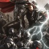 Avengers: Age Of Ultron Concept Art Poster Completed With Thor And Hulk Solo Shots