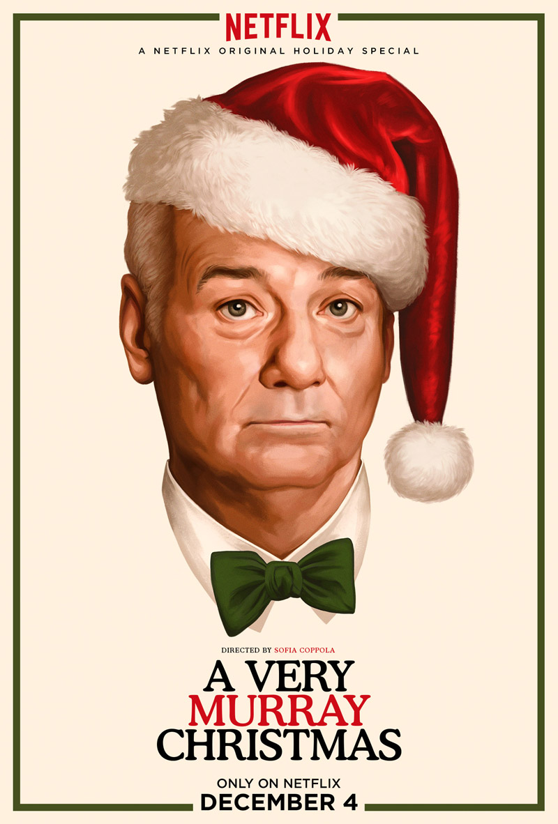 A Very Murray Christmas Poster Cordially Invites You To Billy Murray's Holiday Special
