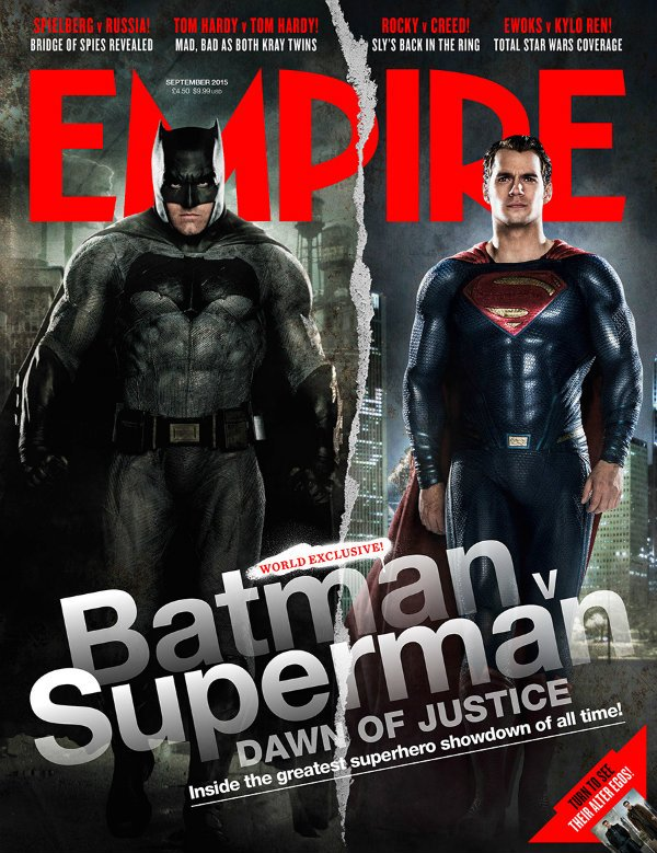 God Meets Man In The Striking Empire Cover For Batman V Superman: Dawn Of Justice