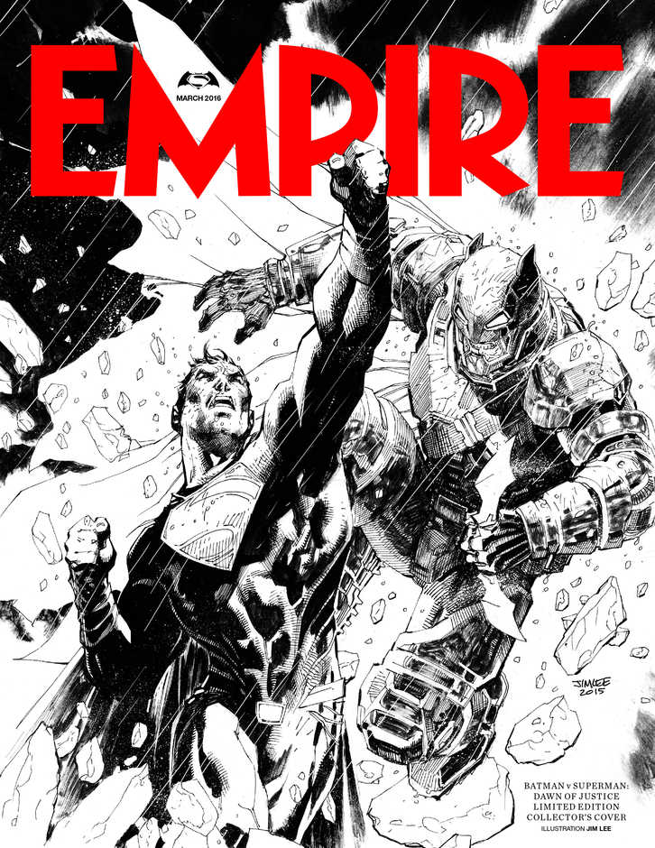 batman vs superman jim lee empire subscribers' cover