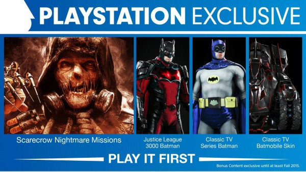 PS4-Only Content Within Batman: Arkham Knight Is A Timed Exclusive