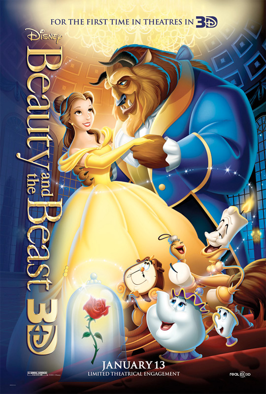 Disney Releases Official Beauty & The Beast 3D Poster