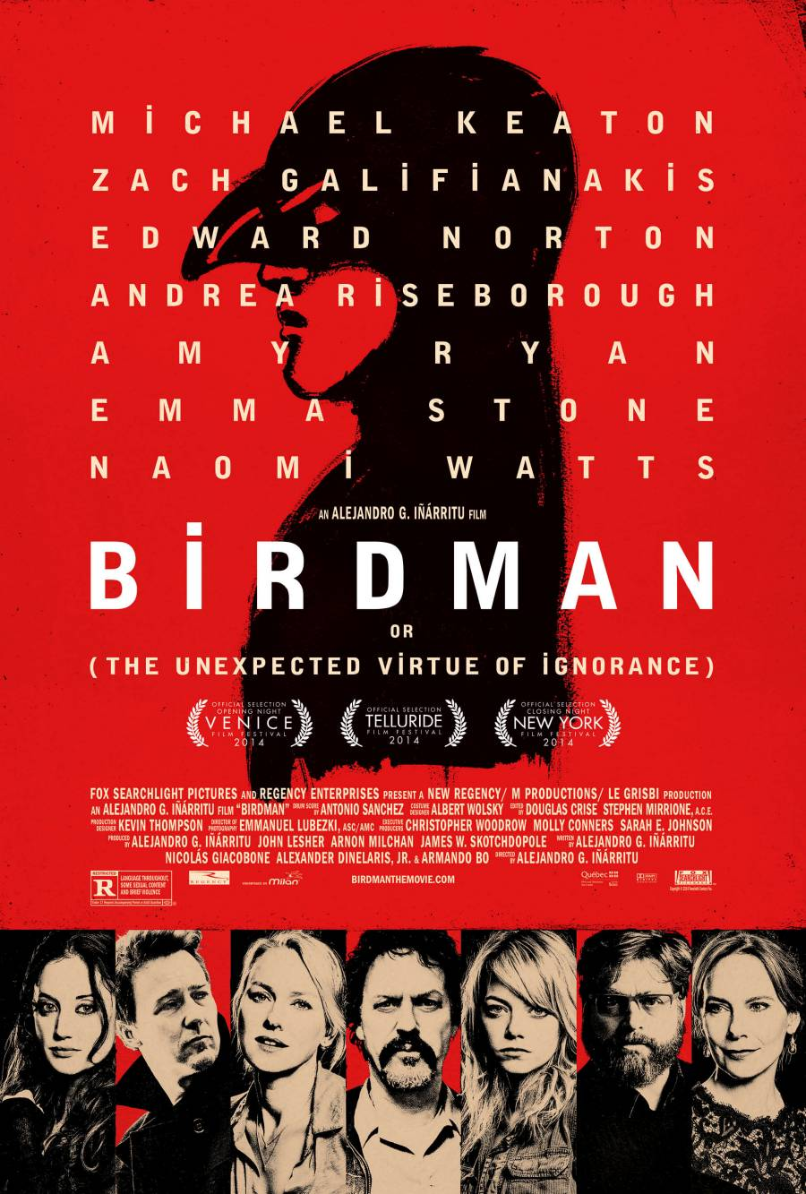 Michael Keaton's Birdman Looms Over The Cast In Awesome New Poster