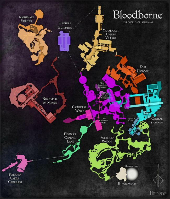 Gaze At The Wonders Of Yharnam With This Rare Bloodborne Map