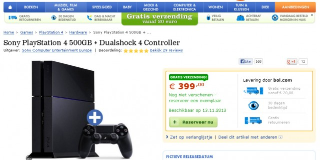 bol ps4 nov 13 release 640x321 European Retailers List PlayStation 4 For November 13th Release