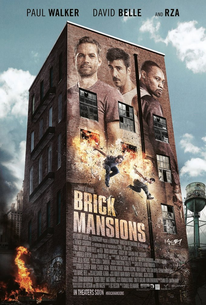First Poster For Paul Walker's Brick Mansions Arrives Ahead Of The Trailer