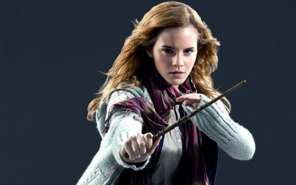 brunettes women emma watson movies celebrity film harry potter magic wand harry potter and the deathly hallows hermione granger warner bros. HD Wallpapers 576x360 WGTC Weekly Throwdown: Which Cinematic Witch Casts The Most Enchanting Spell?