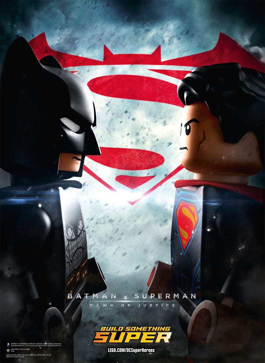 LEGO Parodies The Poster For Batman V Superman: Dawn Of Justice
