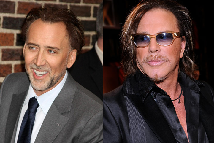 Nicolas Cage And Mickey Rourke Head Off To Marble City