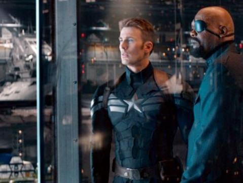 captainamerica2 firstlook evans jackson glass full 479x360 Post Credit Scene Revealed For Captain America: The Winter Soldier
