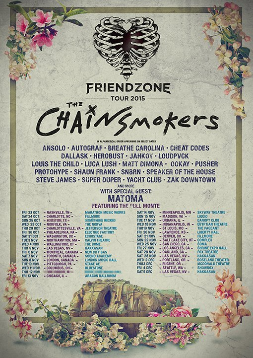 The Chainsmokers Reveal Dates For Friendzone Tour 2015
