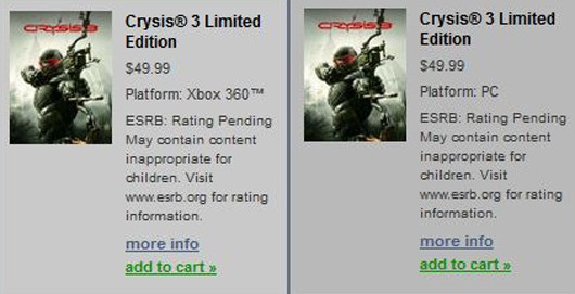 Crysis 3 Has Been Revealed Prior To EA's Intended Date