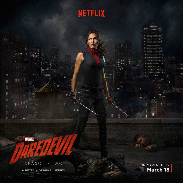Daredevil Season 2 Poster Spotlights Elektra As First Reviews Begin To Emerge