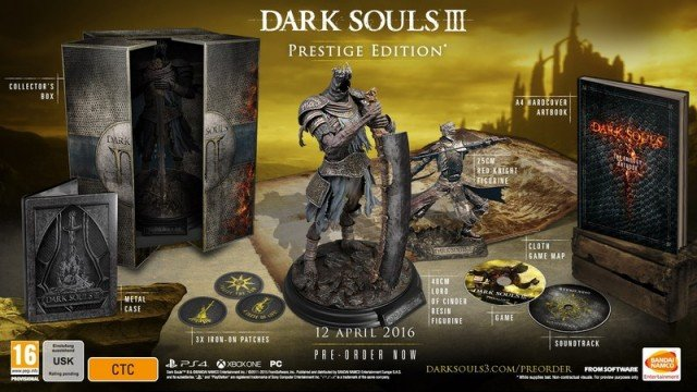 Dark Souls III's Exclusive Prestige Edition Is All Gone Says Bandai Namco