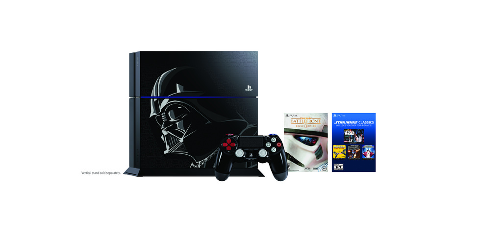 Sony Reveals New Darth Vader PS4 & Controller; Will Be Bundled With Star Wars: Battlefront Or Disney Infinity 3.0