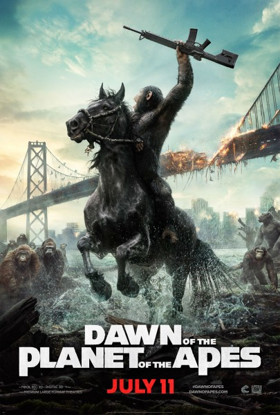 Caesar's Got A Gun (And A Horse) In New Dawn Of The Planet Of The Apes Poster