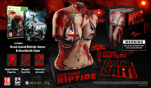 Dead Island Riptide Zombie Bait Edition Comes With Bloody Female Torso